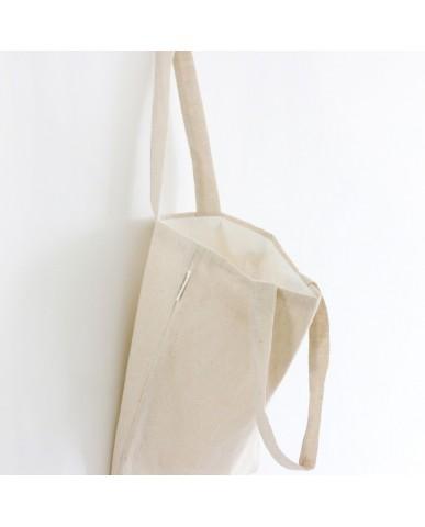 Reusable Cotton Shopping Bag - Natural Vintage Style